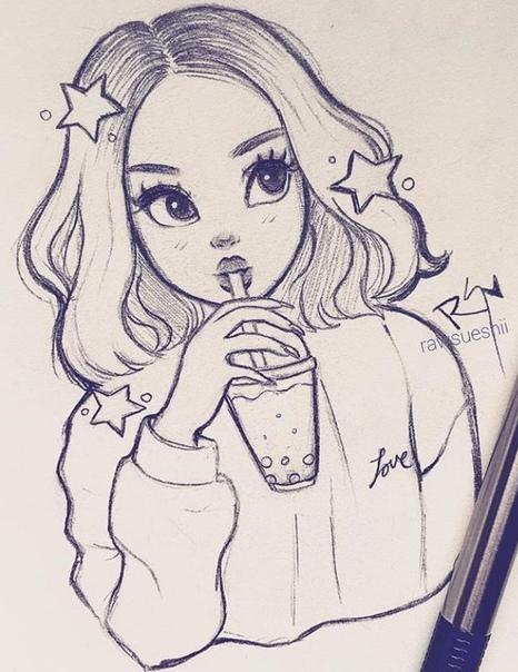 drawings of girls - 736×920