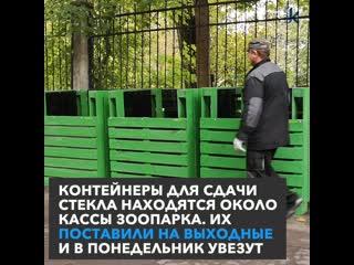 Только на выходные: на улице Чайковского в Калининграде установили первый пункт приёма стеклотары