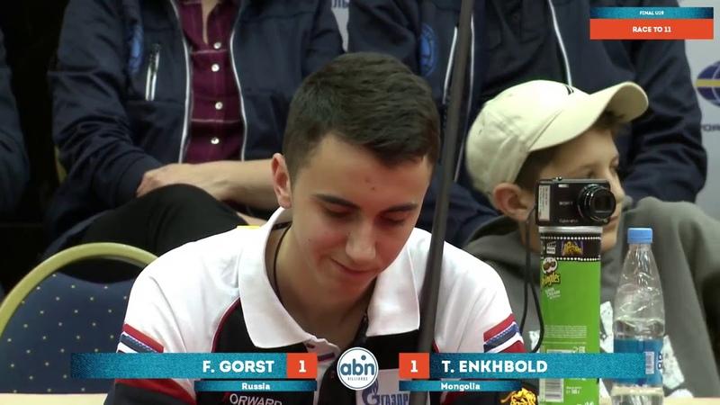 World Juniors 9 ball Championship 2017 U19. Final. F. Gorst - E. Temuujin