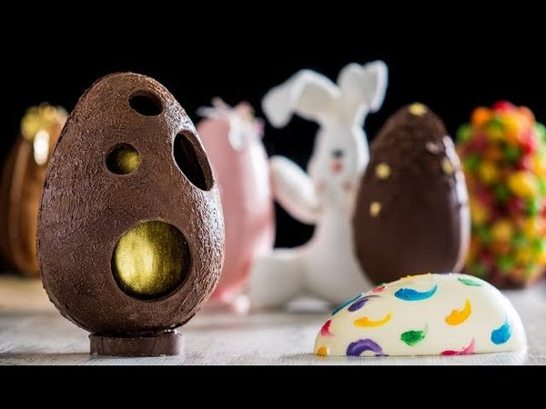 Ovos de Páscoa com decorações e recheios criativos 11548 SAV