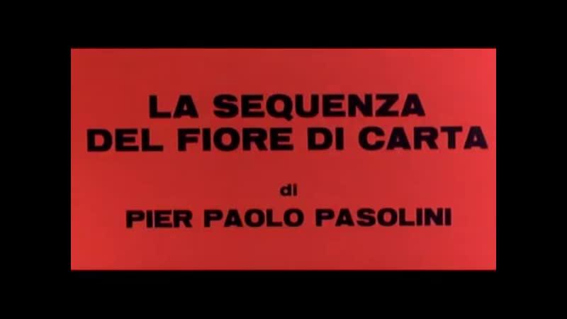 Эпизод с бумажным цветком в киносборнике Любовь и ярость La sequenza del fiore di carta 1968 69