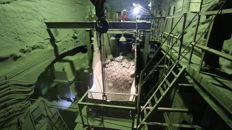 Подземная дробилка на шахте Магнетитовая