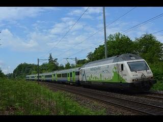 """Bahnverkehr am Heitersberg und Südbahn am  – """"BLS EW III, TXL 187 002, Rotterdampiercer"""""""