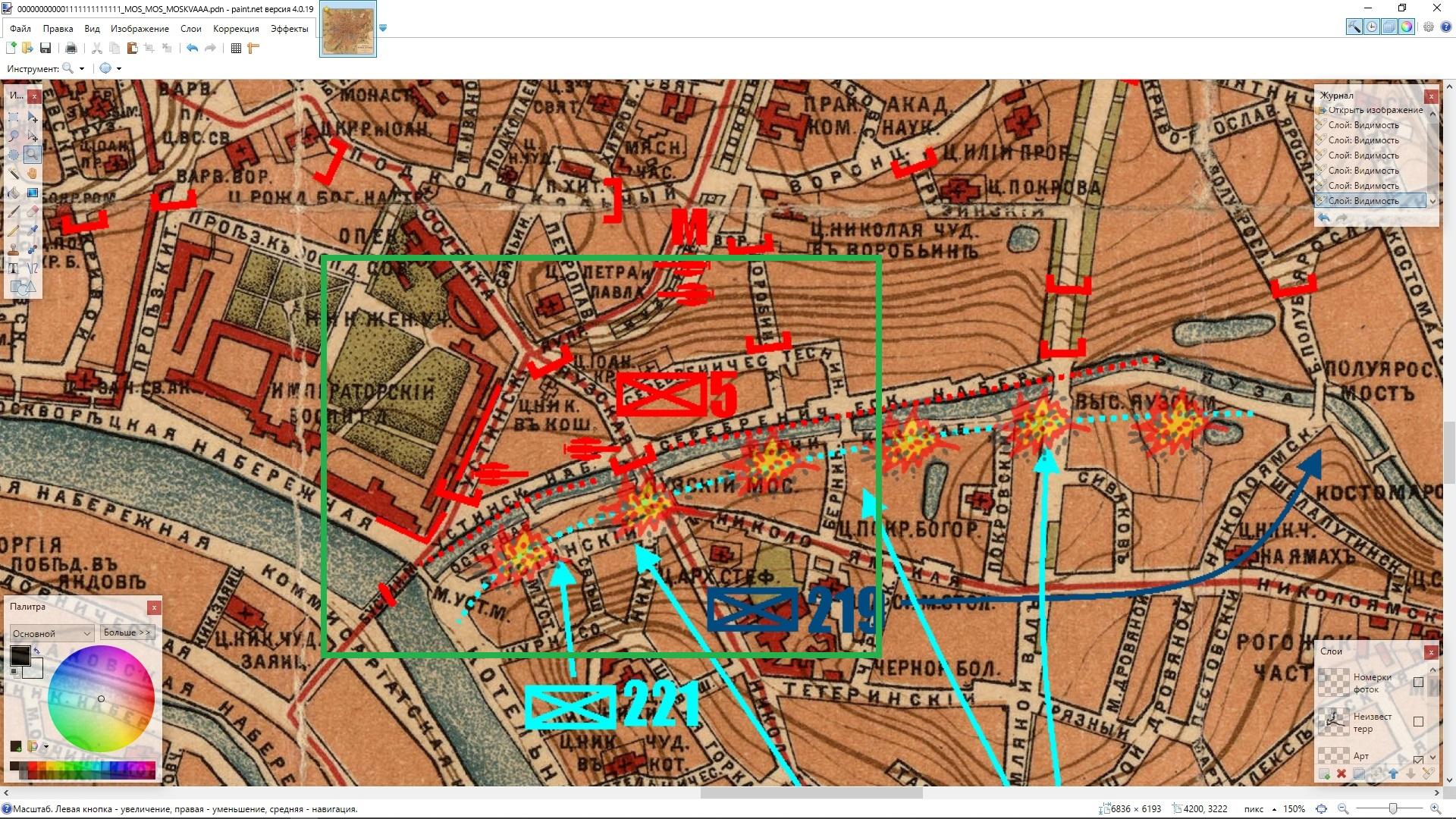 Карта Яуза/ Map Yayza