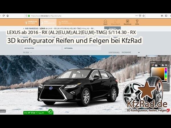 LEXUS ab 2016 - RX (AL2(EU,M);AL2(EU,M)-TMG) 5/114.30 - RX Reifen und Felgen bei KfzRad.de.