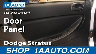How To Replace Rear Door Panel 01-06 Dodge Stratus