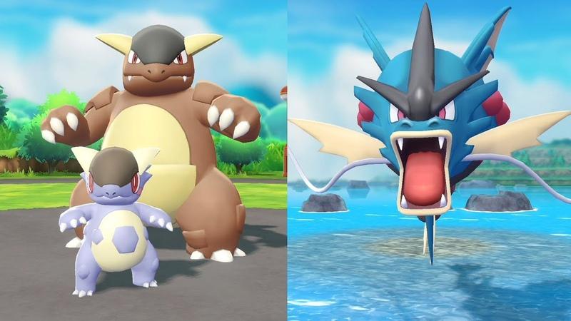 Pokemon: Let's Go, Pikachu! и Let's Go, Eevee! (Mega Kangaskhan и Mega Gyarados)