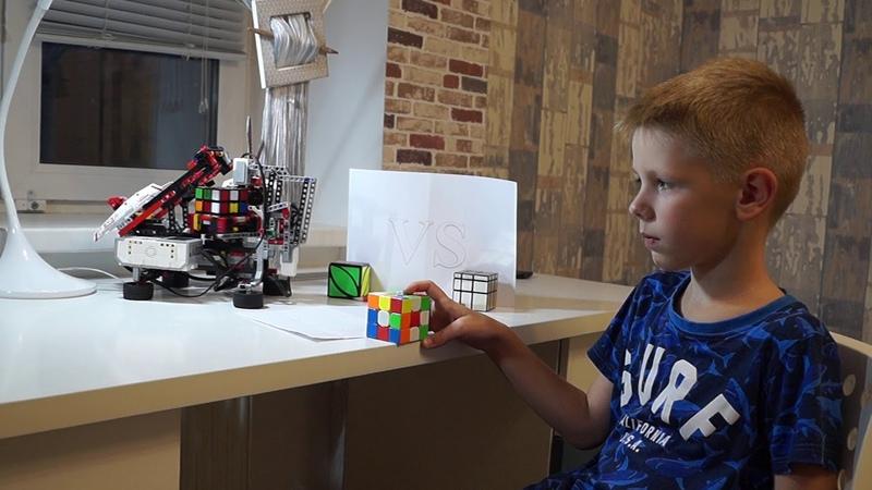 Соревнование человек против робота LEGO EV3