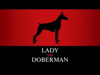 Lady and doberman