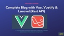 Vue Vuetify Blog with Laravel REST API 2 Sidebar posts