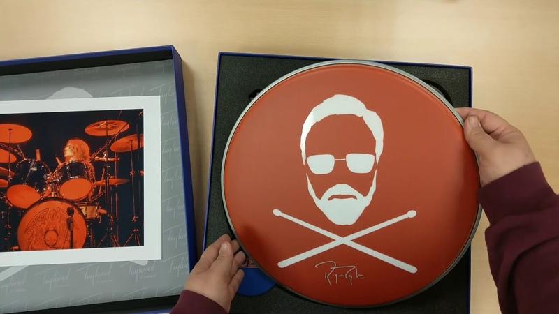Ausgepackt Roger Taylor lim Drum Head Box Set