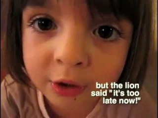An adorable, sweet little french girl bursting with imagination! :-) [english subs]