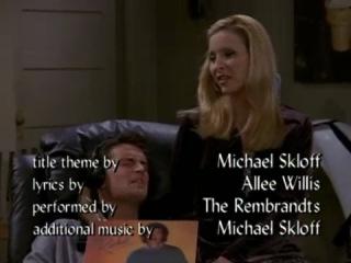 """Friends/ Друзья"" (1994 - 2004) - Chandler and Phoebe singing ''My Endless Love''"