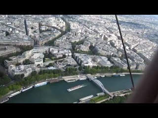 Париж Эйфелева башня вид с самого верха на город
