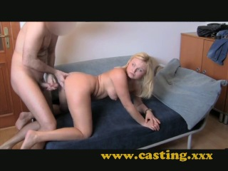 Casting chubby wife gets it in the ass