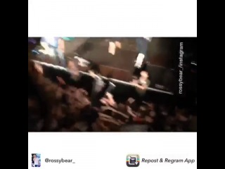 "Ross ""crowd surfing"" in london"
