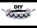 DIY Double shamballa macrame bracelet Двойной браслет шамбала своими руками