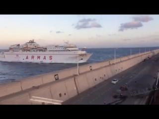 Пассажирский паром врезался в пирс (VHS Video)