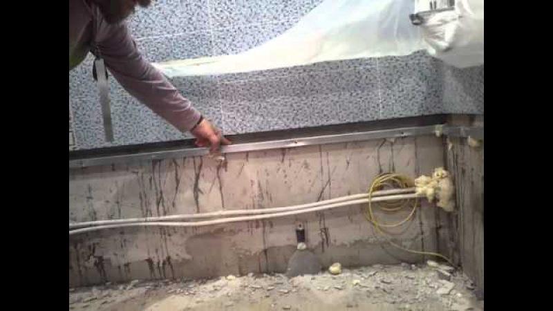 Как правильно установить ванну чтобы она не протекала