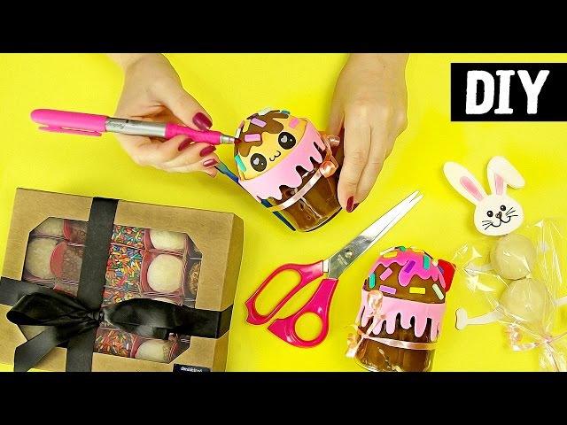 DIYs de Páscoa 🐰🥚 Potinho Kawaii Espeto de Bombom e PascoaDIY