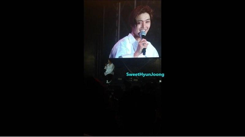 180407 KIM HYUN JOONG World Tour HAZE in Bangkok_Smile a cappella Talk.