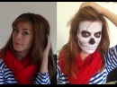 макияж на ХЭЛЛОУИН Французский скелет Halloween makeup skeleton