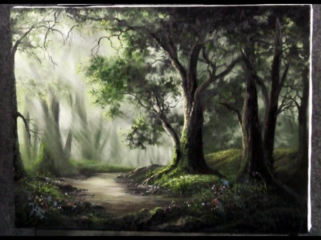 Paint with Kevin - Sunlit Oak Forest