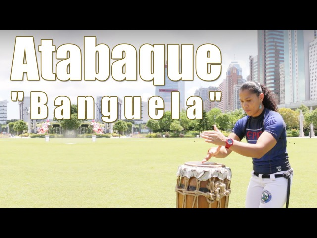 Capoeira Music Play Atabaque with the rhythm Banguela