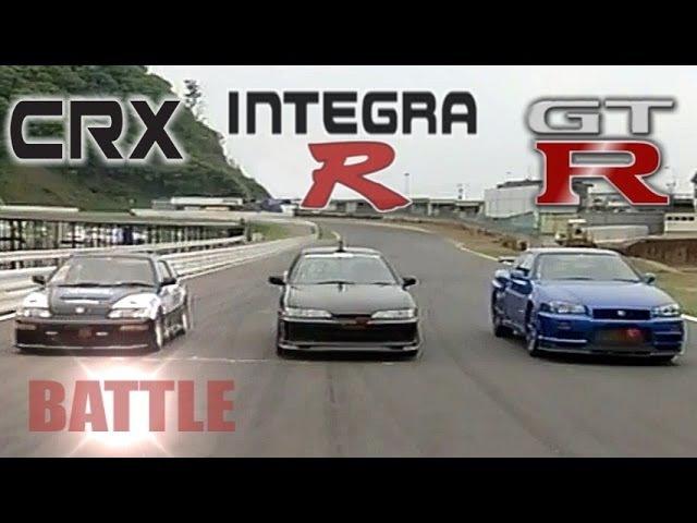 ENG CC Spirits Integra R vs Nissan GT R R34 vs K Shift CR X HV45