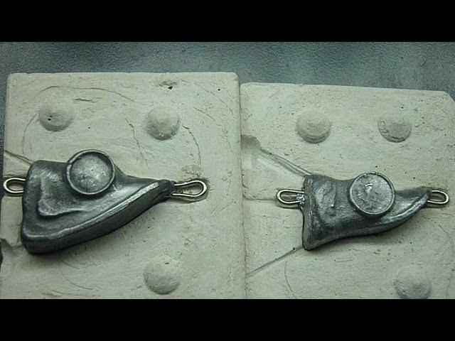 Как сделать форму для грузил из свинца