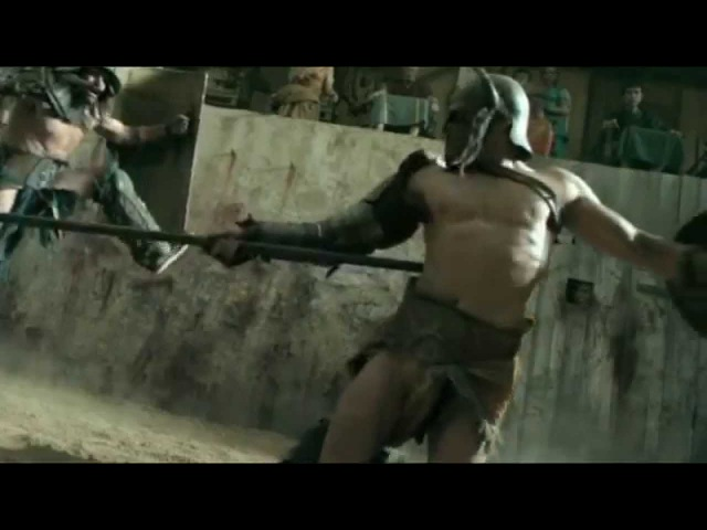 Гладиатор Крикс против Афкта   The first battle in the arena gladiator Crixus vs Afect