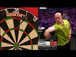 Gary Anderson v Michael van Gerwen (2015 Premier League Darts / Week 12)