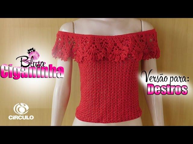 Versão Destro Blusa Ciganinha Fashion Tam PP P M G GG BYA FERREIRA
