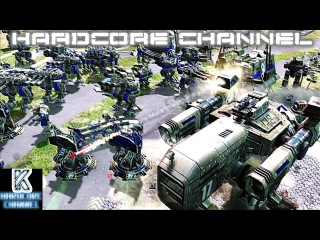 Command & Conquer 3 Tiberium Essence - Skirmish 1v2 - Brutal AI =2= Неравные силы