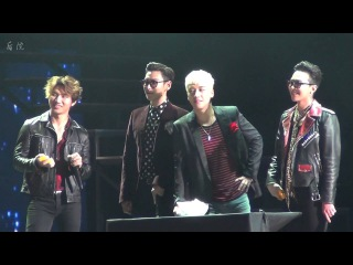 [HY fancam]160312 BIGBANG MADE V I P TOUR IN SHANGHAI - 夹乒乓球游戏_GD+V.I focus