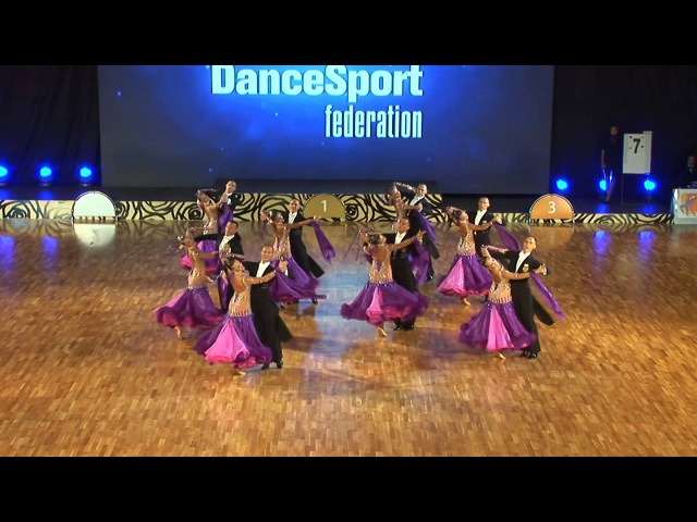Vera Tyumen Russia at WDSF World DanceSport Championship Formation Standard 1 place
