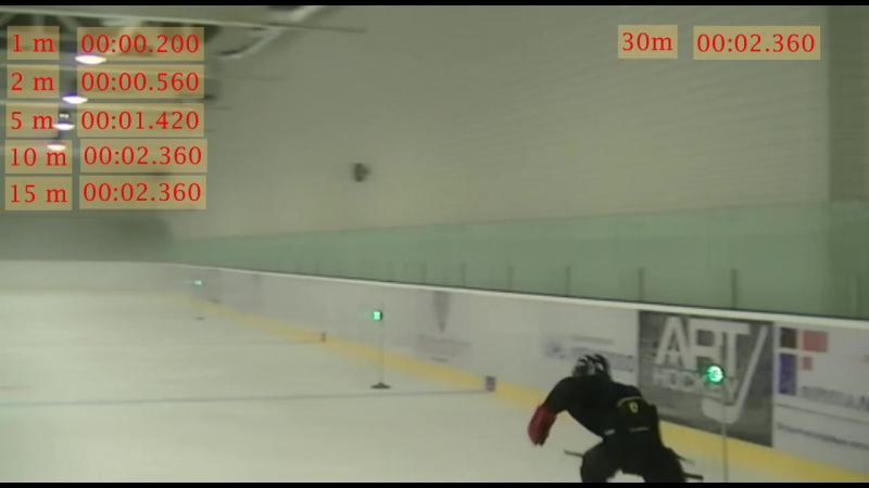 хоккей 30м Fitlight Dartfish