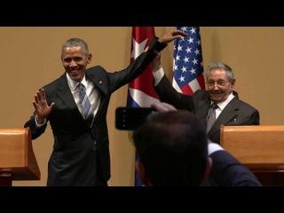 Рауль Кастро не позволил Бараку Обаме похлопать себя по плечу - Первый канал