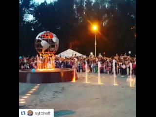Информационное агентство СарБК on Instagram: #Repost @sytcheff Открытие фонтана в сквере Дружбы народов #саратов #фонтан #сквер #saratov #глобус #fountain