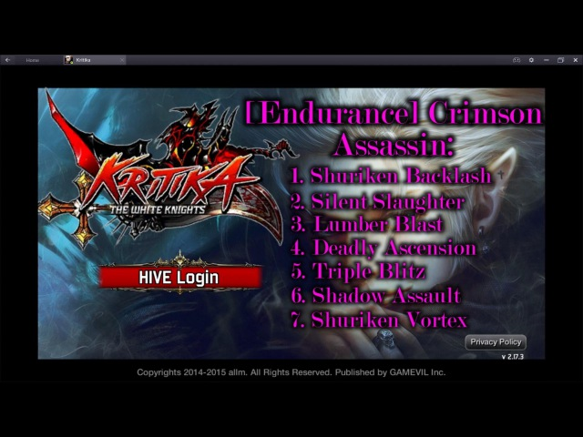 Kritika The White Knights Crimson Assassin Awakened Skills Preview Red and Blue path