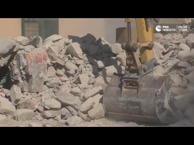 Спасательная операция после землетрясения в итальянском Аматриче