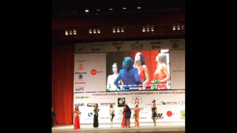 Победительница в номинации Фитнес-модель - ученица BodyLab Айгуль