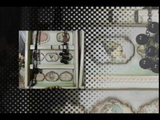 Внутренний декор шкафчика для бижутерии. Леля Раевская.