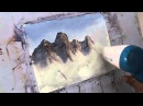 How to make mountains in watercolors