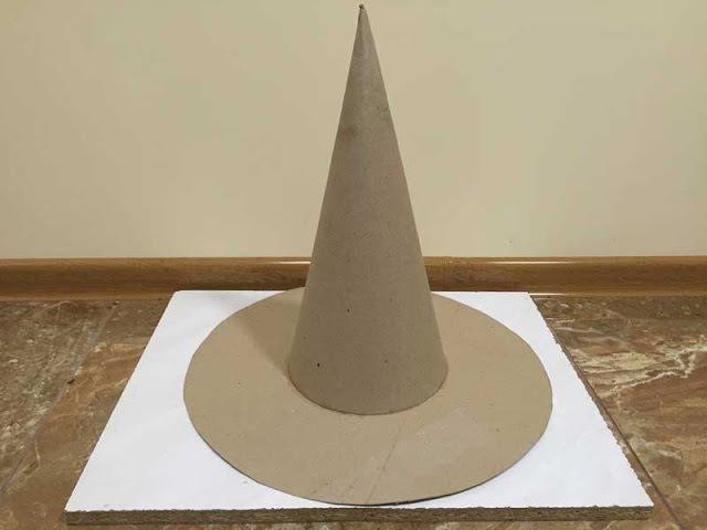 Как сделать конус из картона Конус для елки Шляпа волшебника Шляпа незнайки