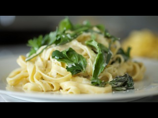 Fettuccini with Lemon Garlic Cream | Byron Talbott