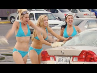 Sexy Car Washers, Nuns and Wet Paint - Throwback Thursday