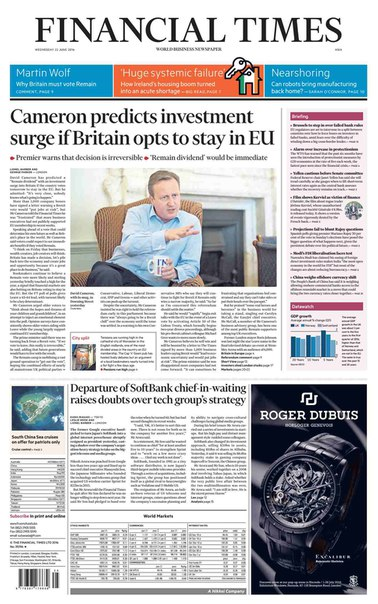 Financial Times Europe  June 22 2016