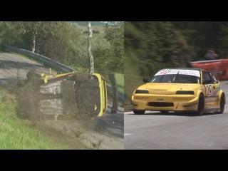 Nice Honda CRX, unfortunately with very bad crash at Swiss Hillclimb Bergrennen Oberhallau 2014