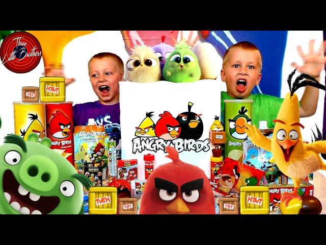 Посылка от Энгри бердс злые птички в кино яйцо киндер с сюрпризом открываем игрушки ANGRY BIRDS toys